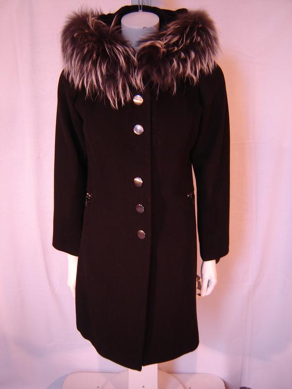 FRANDSEN fekete kapucnis kabát 329812982f